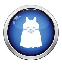 Baby girl dress icon vector image