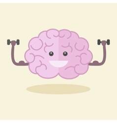 Brain training flat style vector image