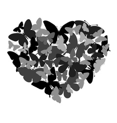butterflies in the shape of heart vector image