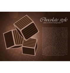 chocolate cube vector image