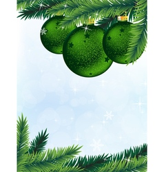 Christmas tree and decorations vector image