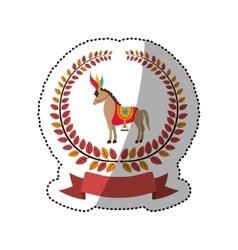 Circus horse cartoon vector image