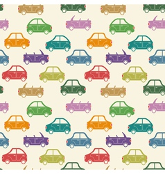 city car pattern color vector image