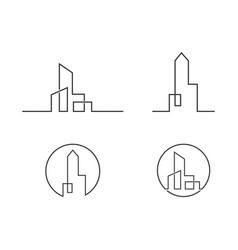 City skyline city silhouette vector
