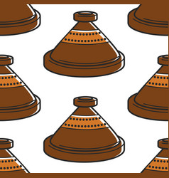clay pot moroccan pottery seamless pottery vector image
