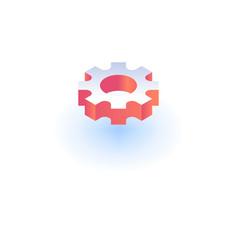 cog wheel icon isometric style vector image