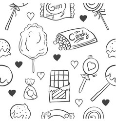 Collection stock candy various doodles vector