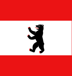 Colored flag of berlin vector