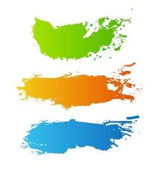 Colorful paint splash vector image