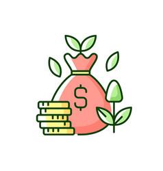 Cost efficiency rgb color icon vector