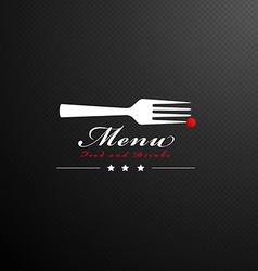 cover restaurant menu vector image