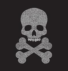 Diamond skull silhouette vector