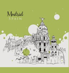 drawing sketch madrid vector image