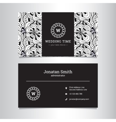 Elegant wedding agency business card vector