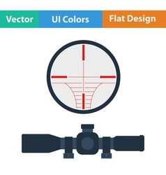 Flat design icon of scope vector image