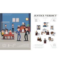 Flat law system concept vector