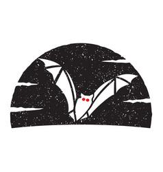 flying bat logo vector image