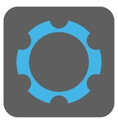 Gear Wheel Rounded Square Icon vector