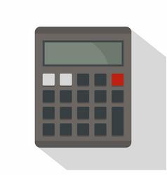 Grey electronic calculator icon flat style vector