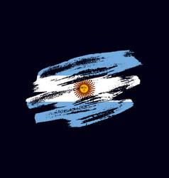 grunge textured argentinian flag vector image