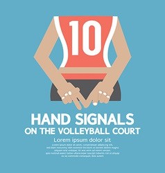 Hand Signals Of the Volleyball Players Backside vector