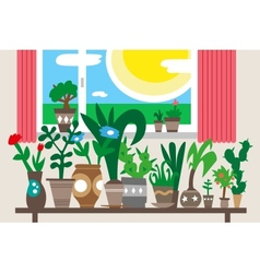 Houseplants vector