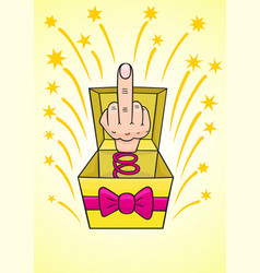 humiliating prize middle finger vector image