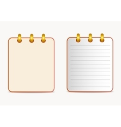 Icons of calendar red color in two variants vector image