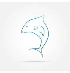 image of an shark vector image