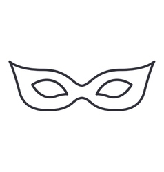 Isolated mask of carnival design vector