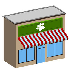 isolated pet shop vector image