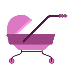 isolated pink stroller icon vector image