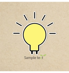 light bulb idea of grunge background paper vector image