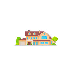 luxury house cottage and residential building vector image