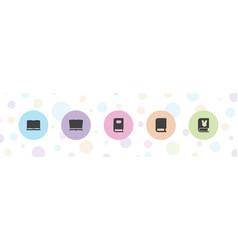 Magazine icons vector