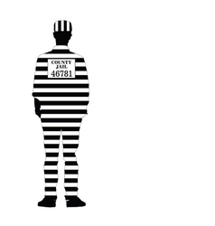 man in jail silhouette vector image