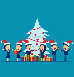 merry christmas party concept business vector image