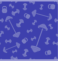 metallic dumbell seamless background vector image
