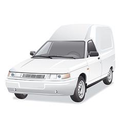 Mini van delivery car vector