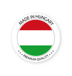 Modern made in hungary label hungarian sticker vector