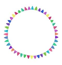Multicolored bright circle Watercolor concept on vector image