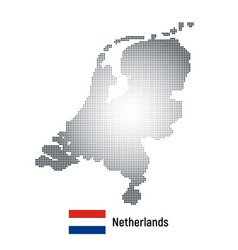 netherlands map with national flag vector image