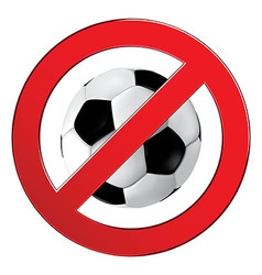 No ball games football soccer vector image