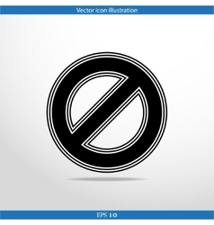 Not allowed sign web icon vector