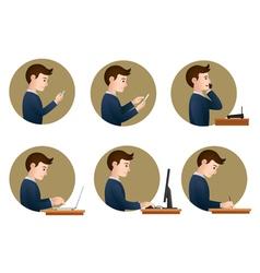 office activities vector image