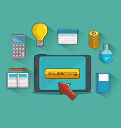 online education and learning web set vector image