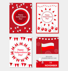 poland independence day set of templates for your vector image