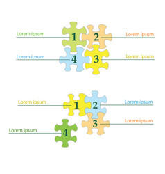 puzzles infographics - business template vector image