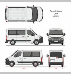 Renault master passenger van l1h1 2020 vector