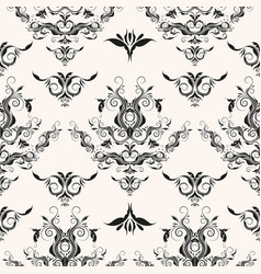 Repeating rococo background vector